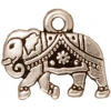 Charm Gita 9mm Antique Silver